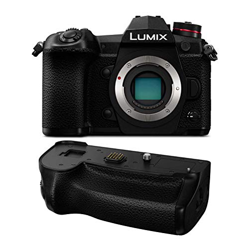 Panasonic Lumix DC-G9 Mirrorless Micro Four Thirds Digital Camera (Body Only) with Panasonic DMW-BGG9 Battery Grip Bundle (2 Items)