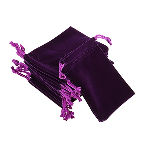 JIEERCUN 10 unids al por Mayor púrpura de Terciopelo de Terciopelo joyería Bolsa de Regalo Bolsa Organizador Bolsas Cajas de joyería (Size : 10 x 12cm)