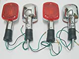2Pair Motorcycles Blinker Turn Signal Light Lamp Direct Fit for Honda REBEL CA250 400 CMX250 CMX400 MAGNA VF250 VF750