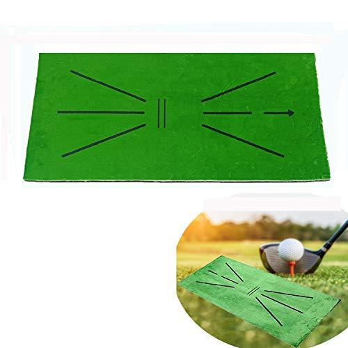 JCT Tapis Golf Entraînement Swing Detection Mat Golf Training Mat Tapis d'entrainement De Putting De Golf 30x60cm Mini Golf Practice Mat for Garden en Salle Analysis & Correct Your Swing Path