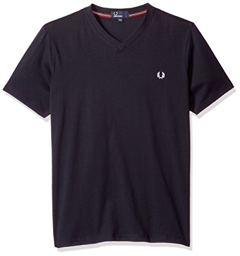 Fred Perry - Camiseta con cuello en V para hombre - Blanco - X-Small