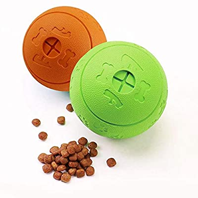 Dog Treat Balls, Bojafa Dog Toys for Boredom, 2-Pack Durable Large Dog Puppy Teeth Toys for Treat Dispensing/Chewing/Playing