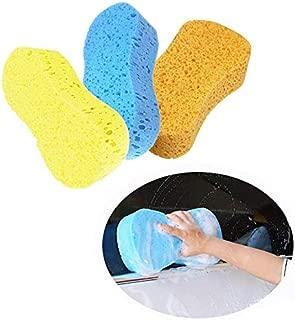 3pcs Car Wash Sponges Cleaning Sponges Scrubber