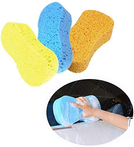 3pcs Car Wash Sponges Kitchen Cleaning Sponges Scrubber