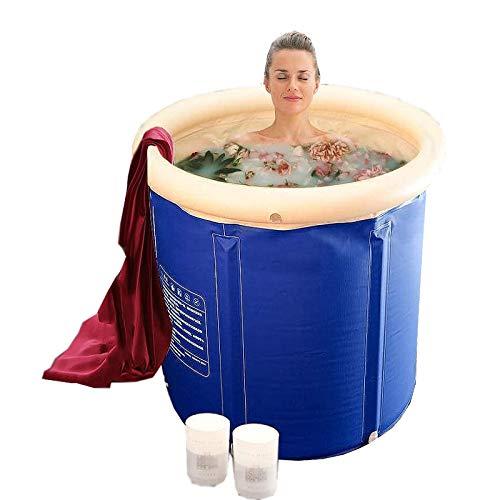 Loykind Bañera para Adultos, Bañera Plegable para Todo el Cuerpo, Bañera Desmontable, Baño de Burbujas de Burbujas, Engrosamiento del Aislamiento