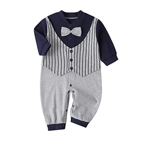 ESAILQ Neugeborene Mädchen Langarm Polka Dot Strampler Jumpsuit Kleidung Outfits