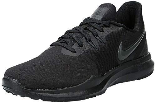 Nike Womens W in-Season TR 8 Wide, Black/Black, Cross Training Shoes, Size 9