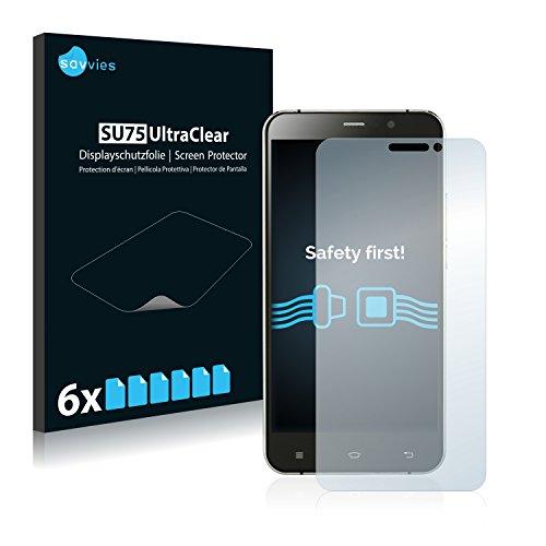 Savvies 6X Schutzfolie kompatibel mit UMi Hammer S Bildschirmschutz-Folie Ultra-transparent
