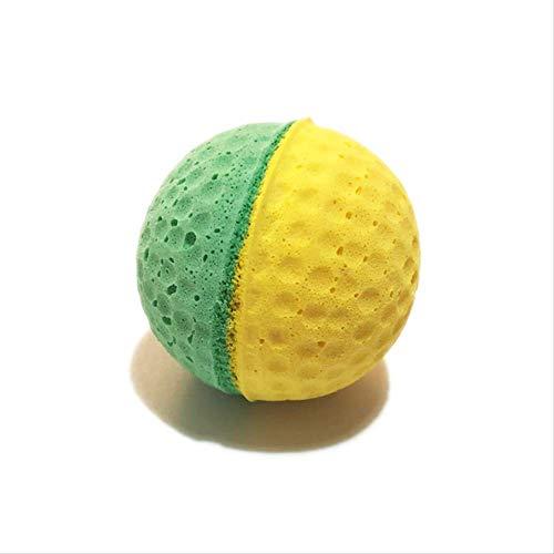 mingzhu Spielzeug für Katzen und Welpen, elastischer Ball, leichter Ball, Gnitato-Zähne, Schleifen der Zähne, 5 Stück