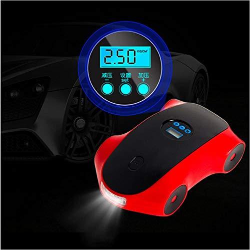 XXYMCB Balones Digitales Luz LED Portátil Multifuncional Coche eléctrico Compresor de Aire...