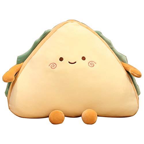MMLC Cute Sandwich Shape Plushie Gefüllte Stofftier, Kreative Lebensmittel Brot Plushie Kissen Kissen Stofftier für Kinder, Soft Touch Gefüllte Kissen Kissen Puppe für Home Office Auto Dekoration
