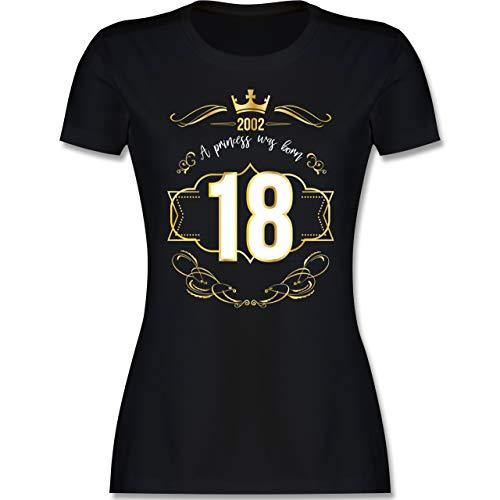 Geburtstag - 18 Geburtstag Prinzessin Mädchen 2002 - M - Schwarz - 18 Tshirt Damen - L191 - Tailliertes Tshirt für Damen und Frauen T-Shirt