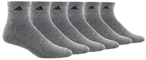 adidas Men's Athletic Cushioned Quarter Sock (6-Pair)