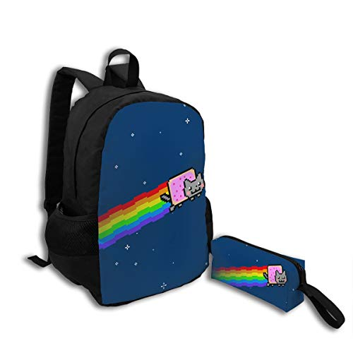 Oswz Cute Nyan Cat.jpg Travel Backpack Insulated Soft Lunch Cooler for Men Women, Best for Picnic, Hiking, Travel, Beach, Sports, Work