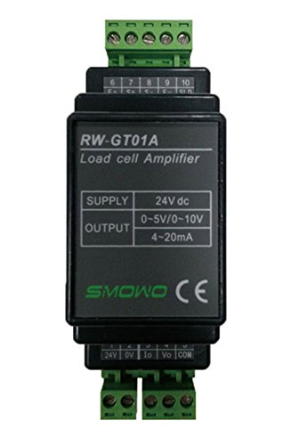 CGOLDENWALL RW-GT01A DIN Rail mountable Load Cell Sensor Amplifier Transmitter transducer (Signal Output: 0-5V)