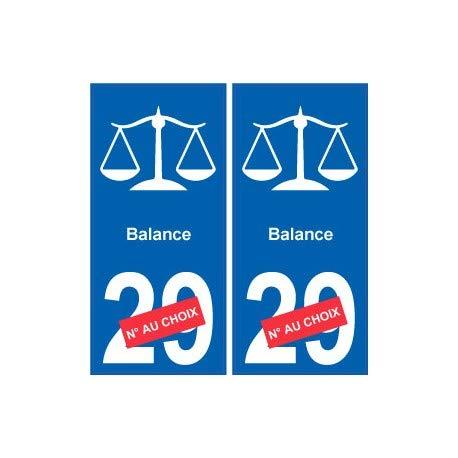 Zelfklevende stickers voor nummerplaat, logo 2 Angles: droits