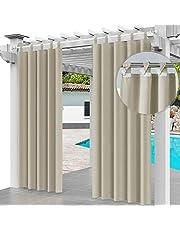 Rideau Extérieur Imperméable 220 x 155 cm Coupe-Vent Protection UV Rideau pour Facade Avant de Pergola Cabana pour Jardin Patio (1 Panneau) [129]