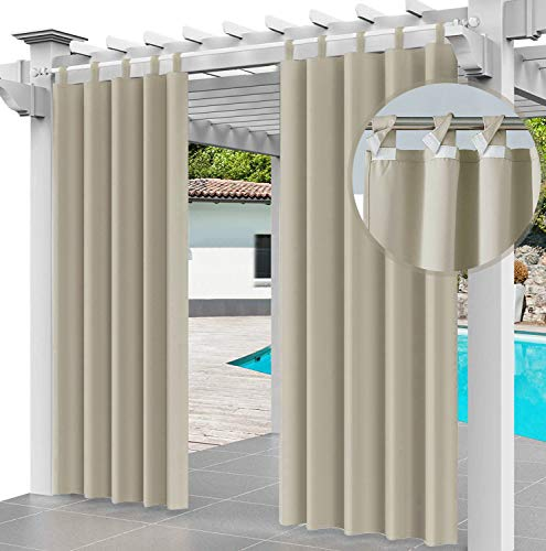 Cortina para Exteriores Impermeable 220 x 155 cm, para Evitar el Agua,...