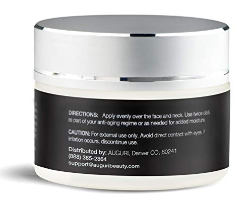 AUGURI Premium Wrinkle Freezing Moisturizer for Firm Skin Structure, Overall Skin Tone Improvement and with Anti-aging properties, 1oz / 30ml