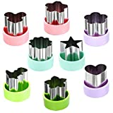"""Magigift 1.5"""" Vegetable Cutter Shapes Set - Mini Cookie Cutters Fruit Cookie Pastry Stamps Mold for Kids Baking and Food Supplement Tools Accessories (8pack)"""