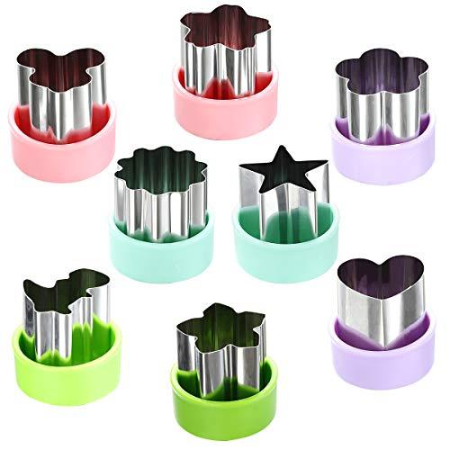 """Magigift 1,5""""Gemüseschneider Shapes Set - Mini Ausstechformen Obst Kekse Gebäckstempel Form für Kinder Back- und Nahrungsergänzungsmittel Werkzeuge Zubehör (8er Pack)"""