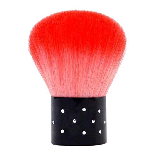 Vovotrade® Poudre de Fondation Maquillage Pinceau Champignon Rougir Brosse Outil de Maquillage Cosmétique Rouge