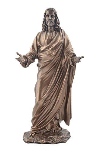 Unbekannt Jesus als Prediger Bronzierte Figur Christentum Kreuz Gott Glaube