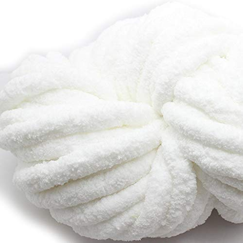 Storage Bag Lana de chenilla gruesa, 250 g de lana gruesa súper...