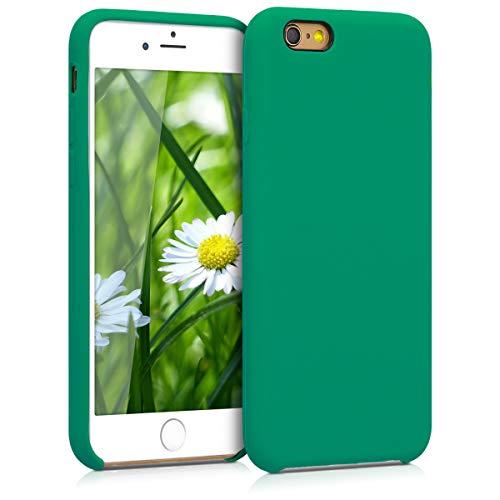 kwmobile Cover Compatibile con Apple iPhone 6 / 6S - Cover Custodia in Silicone TPU - Back Case Protezione Cellulare Verde Smeraldo