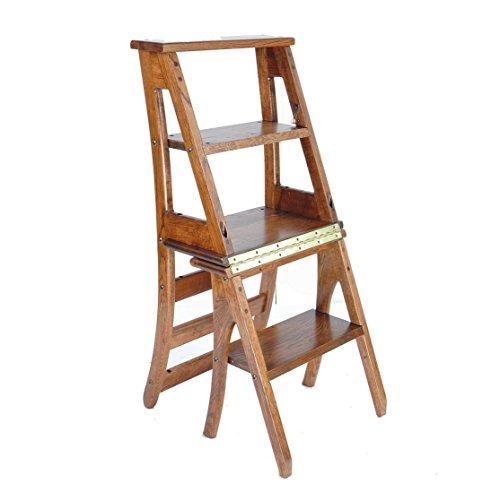 Katxay Muebles Modernos de Madera Plegable Escalera Plegable Plegable Biblioteca Pasos Escalera Silla Cocina Uso de la Oficina