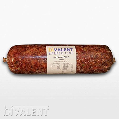 biVALENT BarferLine Barfer Line Barf Menue Rind (Muskelfleisch durchwachsen, Rinderherz, Rinderbrustbein, Pansen, Leber) 1000g gewolft (15x1Kg)