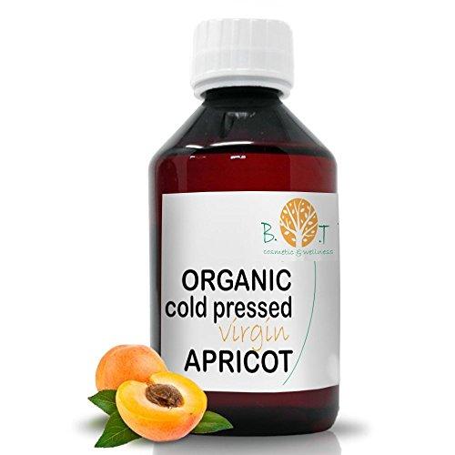 Huile de Noyau d'Abricot Organique Pressée à Froid (250 ml)