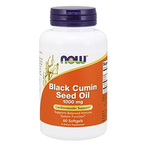 NOW Supplements, Black Cumin Seed Oil, 1,000 mg, Cardiovascular...