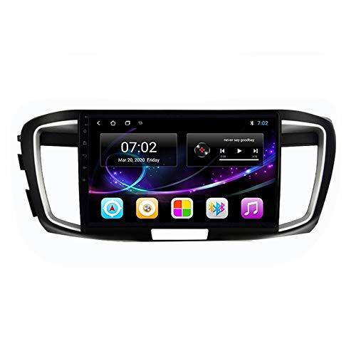 2 DIN Car Stereo HD Pantalla Táctil Soporte Llamadas Manos Libres/BT/Navegación GPS/Cámara De Visión Trasera/1080P Video, para Honda Accord 9 2013-2017 Radio De Coche,Quad Core,4G WiFi 1+32