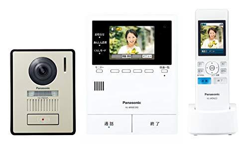 パナソニック ワイヤレスモニター付きテレビドアホン VL-SWE310KL 宅配ボックス (コンボライト) 連携 モニター親機 (約3.5型カラー液晶)・ワイヤレスモニター子機 (約2.2型カラー液晶)・カメラ玄関子機 (LEDライト搭載)