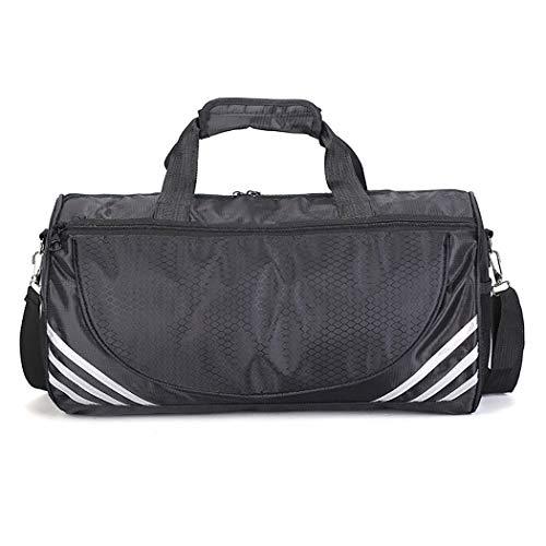 Bageek sporttas met grote capaciteit met een schoenenvak, L, Zwart & zilver