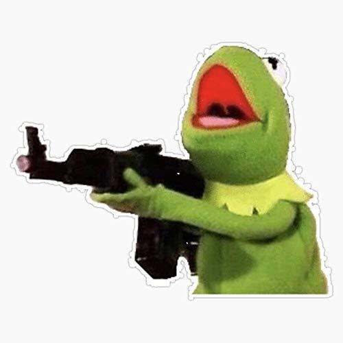 Shooter Kermit Vinyl Waterproof Sticker Decal Car Laptop Wall Window Bumper Sticker 5'
