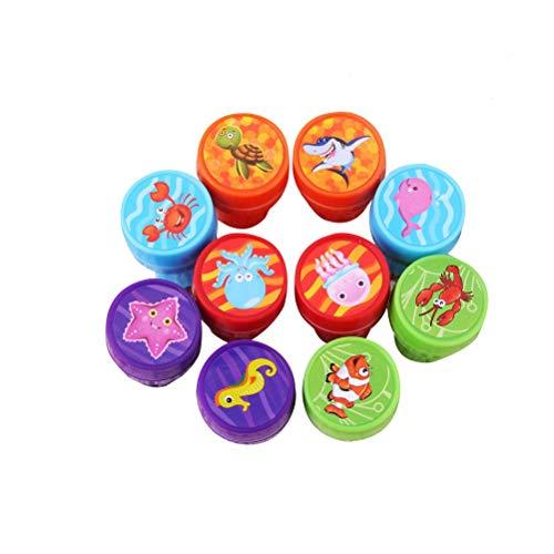 STOBOK 30pcs Stempelset Tiere Kinder Briefmarken Spielzeug Selbstfärbende Kinderstempel Geburtstag Party Favors