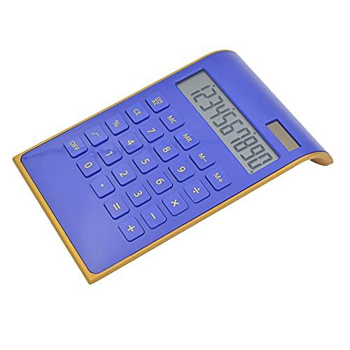 Solar Powered Calculator,Functional Desktop Office Calculator Handheld,Big Sensitive Button Electronics Calculators for Business Office School Calculating