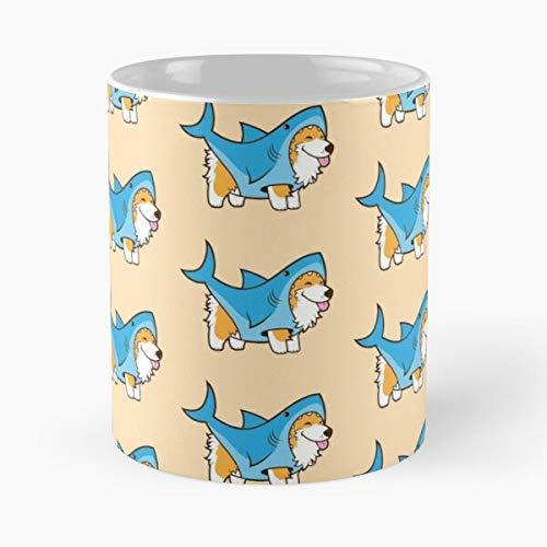 Animal Mammal Corgi Costume Dog Pet Puppy Canine Best Taza de café de cerámica de 315 ml Eat Food Bite John Best Taza de café de cerámica de 315 ml