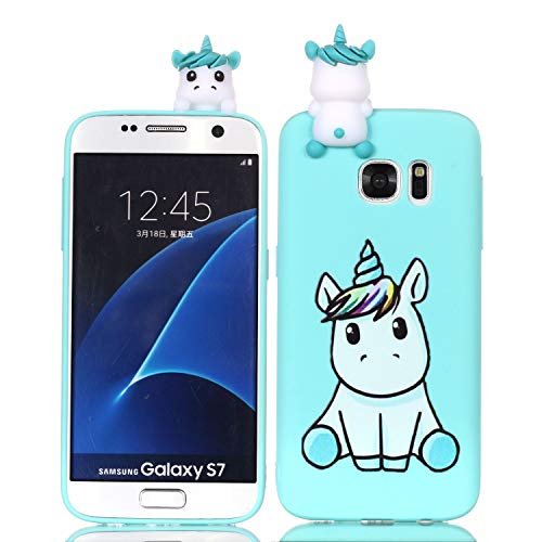HongYong Compatible with Samsung Galaxy S7 edge Case Silicone Gel Shockproof Phone Protective Cover Slim Fit Ultra Thin TPU Lovely Case Animal Cute Protective Ultra Thin Slim Bumper Shockproof