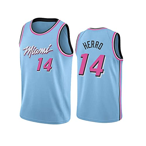 GFQTTY Camiseta De Baloncesto para Hombre Miami Heat 14# NBA Camiseta De Baloncesto para Hombre Adulto Camiseta De Hombre Bordado Resistente Al Desgaste Transpirable