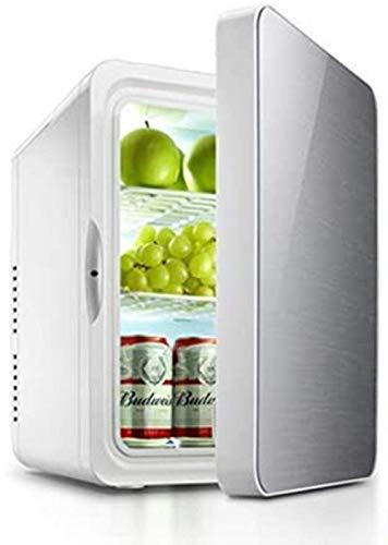 Mini nevera, refrigerador del coche, 22L mini refrigerador, hogar del coche de calefacción y refrigeración Box, Cosmética fresca refrigerada de Seguridad, de 3 capas, de oro, 1yess (Color : Silver)