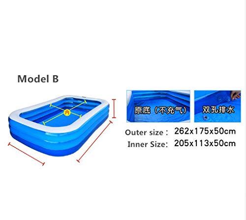 DU Piscina Inflavel Volwassen Zwembad Beightening Verdikking Rechthoek Vissen Groot Kind Opblaasbaar Stuur Elektriciteit Bump