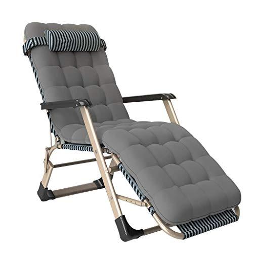 Zero Gravity, outdoor/klapstoel, voor buiten, verstelbare stoelen, tuinstoel, inklapbaar, met zwembad, katoen, 150 kg, licht, campingstoel grijs.