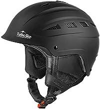 TurboSke Ski Helmet, Snowboard Helmet, Snow Sports Helmet for Men Women and Youth (Black, L)