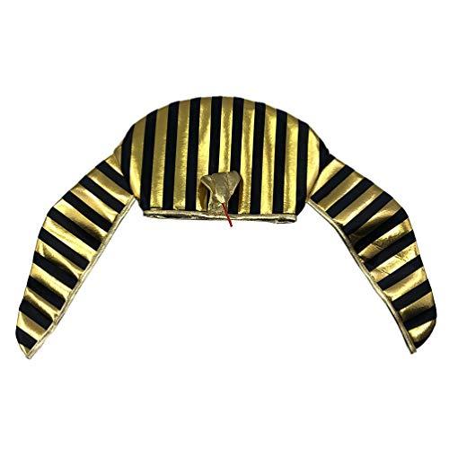 PRETYZOOM Pharao Hut Ägyptischer Kopfschmuck Ägypten Stirnband Kleopatra Ägypterin Kopfbedeckung Partyhut König Pharao Kostüm für Herren Maskerade Karneval Cosplay Schmuck