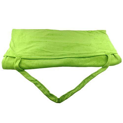 GuoCu Frottee Liegenauflage Strandtücher Sonnenliege Handtuch, Sonnenliege Strandmatte Strandkorb Handtuchbezug Faltbar mit Seitentasche Gras-Grün one Size