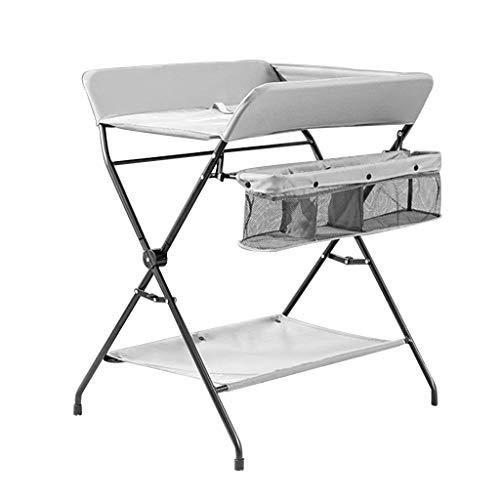 N/Z Living Equipment Table Mesa para bebés Unidades de Cuidado de masajes Organizador de pañales portátil Estilo de Patas Cruzadas Plegables Ideal para 0 3 años de Edad (Color: Gris Tamaño: B)