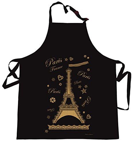 Tablier de cuisine Tour Eiffel Noir 85×72 cm Torchons & Bouchons